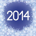 Year figures with snowflakes on blue background Royalty Free Stock Images