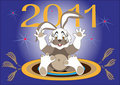 Year Hare-2011.Illustration.Background Royalty Free Stock Image