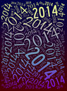 Year holiday background word cloud Stock Image