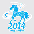 Year of the horse card vector illustration Stock Images