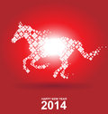 Year of the horse chinese new year on red background Royalty Free Stock Image