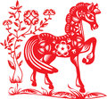 Year of horse graphic design Royalty Free Stock Photo