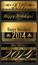 Year illustration decorative black and golden vector Stock Photography