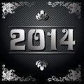 Year illustration decorative black and silver vector Stock Image