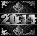 Year illustration decorative black and silver vector Royalty Free Stock Photo
