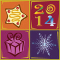 Year illustration ornamental and stylish vector Stock Images