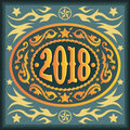 2018 year oval western cowboy belt buckle