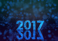 2017 Year Phosphorescent Number