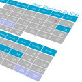 Year planner Calendar Stock Photography