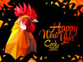 Year of red fiery cock