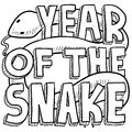 Year of the snake sketch Stock Image
