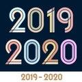 Year 2019 2020 text font class graduation. Flat and plain.