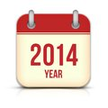 Year vector calendar app icon with reflection this is file of eps format Royalty Free Stock Photos