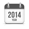 Year vector calendar app icon with shadow this is file of eps format Stock Photo