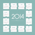 Year vector calendar week starts on monday Stock Photography