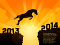 Year of year of horse jumps to is the Royalty Free Stock Photos