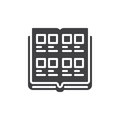 Yearbook icon vector
