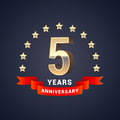 5 years anniversary vector icon, logo