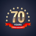 70 years anniversary vector icon, logo