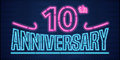 10 Years Anniversary Vector Il...