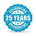 25 years celebrating vector icon