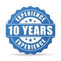 10 years experience vector icon