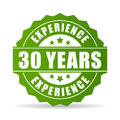 30 years experience vector icon