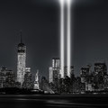 12 years later…Tribute in Lights, 9/11 Royalty Free Stock Photo