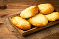 Yeast buns with cheese traditional russian pastry on the wooden background Royalty Free Stock Image