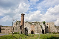 Yedikule castle in istanbul byzantine architecture and ruins of a mosque turkey Stock Images
