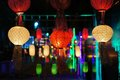 Yee Peng lantern festival in Chiang Mai Thailand Royalty Free Stock Photo