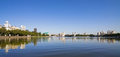 Yekaterinburg riverbank, panoramic view Stock Images