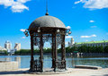 Yekaterinburg russia rotunda in the center of Royalty Free Stock Photo