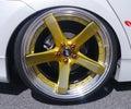 Yellow 5 Spoke Car Wheel