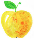 Yellow apple Stock Photography
