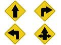 Yellow arrow traffic sign Royalty Free Stock Photo