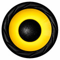 Yellow audio speaker Royalty Free Stock Photo