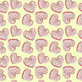 Yellow background with hearts. Water color pattern to the day of lovers