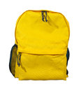 Yellow backpack, School bag. Royalty Free Stock Photo