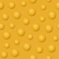 Yellow balls and bubbles vector illustration. Abstract background