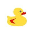 Yellow bath flat duck