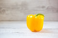 Yellow bell pepper single vivid with copy space Stock Photography