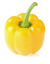 Yellow bell pepper  on white Royalty Free Stock Photography