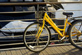 Yellow Bicycle Royalty Free Stock Images