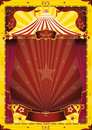 Yellow big top circus poster Stock Photography