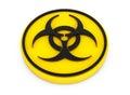 Yellow Biohazard Button Royalty Free Stock Photo