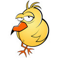Yellow bird illustration Royalty Free Stock Photo