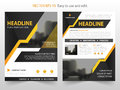 Yellow black abstract annual report Brochure design template vector. Business Flyers infographic magazine poster.Abstract layout