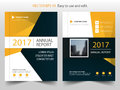 Yellow black abstract annual report Brochure design template vector. Business Flyers infographic magazine poster.Abstract layout Royalty Free Stock Photo