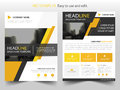 Yellow black abstract brochure annual report flyer design template vector, Leaflet cover presentation abstract flat background Royalty Free Stock Photo
